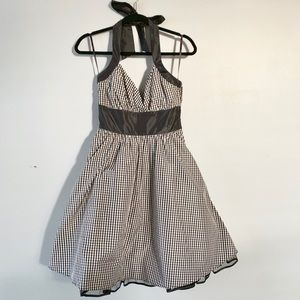 Betsy Johnson Gingham Halter Dress with Tulle